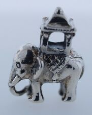 Authentic Trollbeads Indian Elephant 11601 New Silver Charm Bead