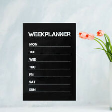 HOT Weekly Plan Planner Calendar Memo Chalk board Blackboard Wall Sticker Decal