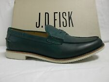 J.D. Fisk Size 10 M Scully Green Leather Loafers New Mens Dress Shoes