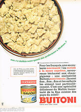 PUBLICITE ADVERTISING 075  1966  BUITONI   raviolis  sauce supreme