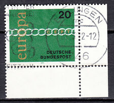 BRD 1971 MER. n. 675 timbrato con eckrand 4 FN 0 LUSSO!!! (21556)