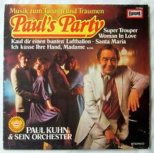 """12"""" VInyl - LP PAUL´S PARTY - Paul Kuhn & Sein Orchester"""