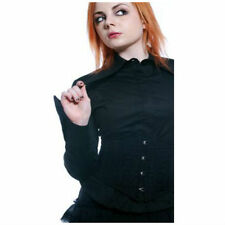"Lip Service Blacklist ""Vantage Point"" Long Sleeve Top Black Goth Size M"