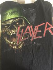 Slayer Vintage 90's T Shirt Medium Black Short Sleeve Heavy Metal