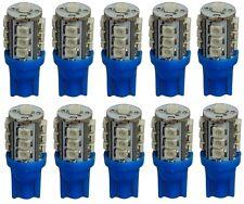 10x ampoule T10 W5W 12V 13LED SMD bleu éclairage intérieur plaque coffre seuils
