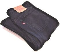 501 Levi's Red Tab Classic Fit ButtonFly Straight Leg Black Denim Jeans Men's 34
