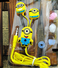 Cool Despicable Me Minions Style 3.5 mm In-ear Headphones Earphones length 1M