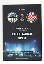 Orig.PRG   Europa League  2015/16  SLOVAN LIBEREC - HAJDUK SPLIT  !!  SELTEN