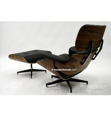 moderntomato brentwood lounge chair + stool rosewood / black
