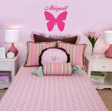 Personalized BUTTERFLY decal with NAME VINYL WALL ART STICKERS room decor DECAL
