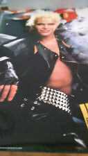 1986 Billy Idol in leathers Whiplash Smile NOS wall poster PBX3393