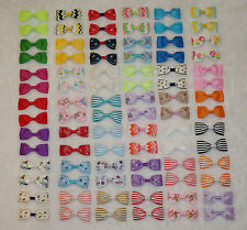 """84Pcs DIY Grosgrain girl 2.5"""" boutique Hair Bow Baby- 42 Colors without clips."""