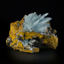 "3.9"" Sky Blue BARITE Sharp Glassy Terminated Crystals on Matrix Morocco for sale"