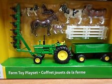 NEW John Deere Farm Toy Playset, Includes Tractor/Wagon & More, Ages 8+  LP64818