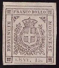 MODENA GOVERNO PROVVISORIO 1859 - 15 c. n. 13 NUOVO SPL Cert. COLLA € 3.750