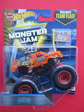 HOT WHEELS MONSTER JAM 25 YEARS 2017 NEW *JESTER* X-RAY BODY WITH TEAM FLAG HTF