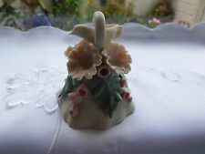 Chessell pottery small bell with dove,flowers and leaves