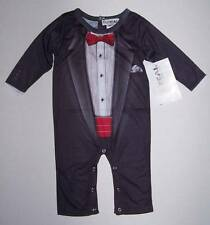 NWT Tuxedo Baby Outfit Romper One Piece New Year Halloween Photo 12 mo