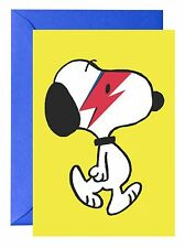 SNOOPY AS DAVID BOWIE GREETINGS CARD (BIRTHDAY) PEANUTS DOG
