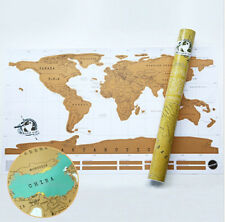 Deluxe Scratch Off Layer Visual Travel Journal World Map For Educatioin 88x52cm