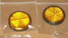 6 x  round amber reflectors motorbike  trailers vans motor APRIL OFFER