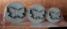 NEW! 3 butterfly fondant icing plungers 3 sizes cake decorating