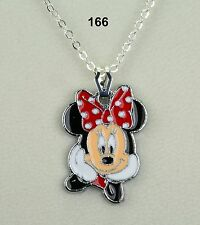 Disney Minnie Mouse pendant necklace on silver-plated chain - nice gift!