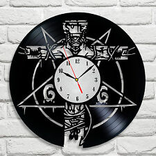 666 Devil Pentagram design vinyl record clock home decor art hobby movie shop