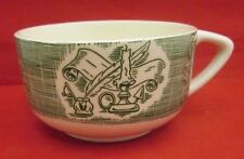 Royal China The Old Curiosity Shop Cup Green & White Candle Scroll Feather pen