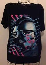 Star Wars Storm Troopers T-Shirt Sz S Headphones Colorful 80's Inspired Retro
