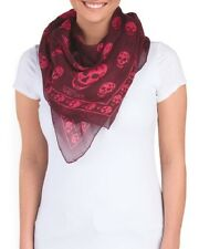 NWT ALEXANDER MCQUEEN Made In Italy Silk Skull Printed Scarf $599 Sold out!