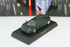 Kyosho 1/64 McLaren F1 Green BRITISH Minicar Collection 2009 Rare Jaguar