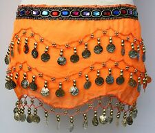 3 ROWS BELLY DANCE HIP SCARF WRAP BELT DANCER SKIRT COSTUME COIN ALL COLOURS KID