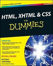 HTML, XHTML and CSS For Dummies, Noble, Jeff, Tittel, Ed, New Book