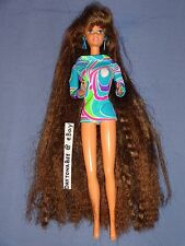 Totally Hair Barbie Brunette Longest Hair Ever Ultra Long No Styling Gel 1991