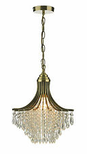 Suri - 1 Light Antique Brass Crystal Ceiling Pendant