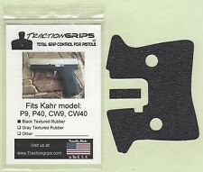 Tractiongrips brand grips for Kahr CW9, CW40, P9, P40 pistols / rubber grip set