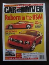 Car & Driver Magazine February 2004 Mustang GT Corvette Mercede SLR (NN) (YY)
