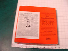 vintage New York Times Historic Puzzle: LINDBERGH FLIGHT 5/22/27 cover