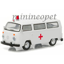 GREENLIGHT 29840 E 1977 VW VOLKSWAGEN TYPE 2 BUS AMBULANCE 1/64 DIECAST WHITE