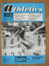 ATHLETICS WEEKLY OCTOBER 29th 1977 KATE SCHMIDT USA JAVELIN