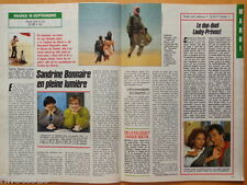 SANDRINE BONNAIRE Coupure de presse 2 pages TELE 7 JOURS 1989 – French clippings