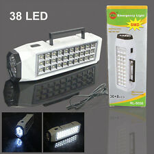 Portable 38-LED Rechargeable Emergency Light Lamp High Capacity LED Torch