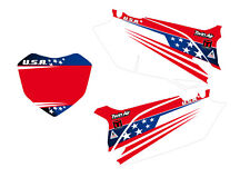 HONDA GRAFICHE STICKERS TABELLE TEAM USA CR 125 CRF 250 450 PERSONALIZZABILI