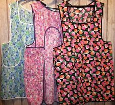 3 New  3X/4X Edith Bunker style Back & Front  Coverall Aprons USA