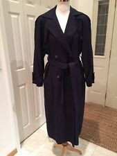 The Water's Edge Michelle Stuart Designer Blue All Weather Trench Size 8