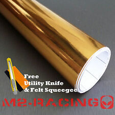 "*24""x60"" GOLD CHROME MIRROR Vinyl Wrap Sticker Decal Sheet Air Bubble Free"