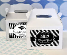 72 Personalized Graduation Theme Mini Gable Boxes Holiday Party Favors