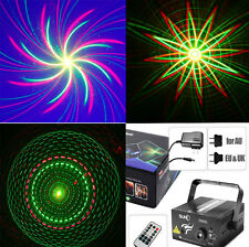 Remote 8 Big patterns Laser BLUE LED Stage DJ Light Home Party Xmas Decor