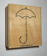 Umbrella Rubber Stamp Friendship Cozy Shelter From Life's Rainy Days Stampin' Up